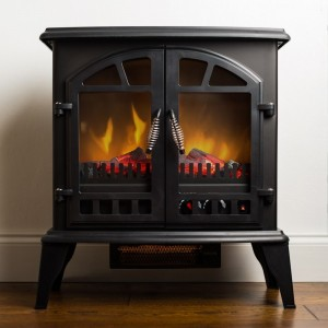 features - Free Standing Electric Fireplace